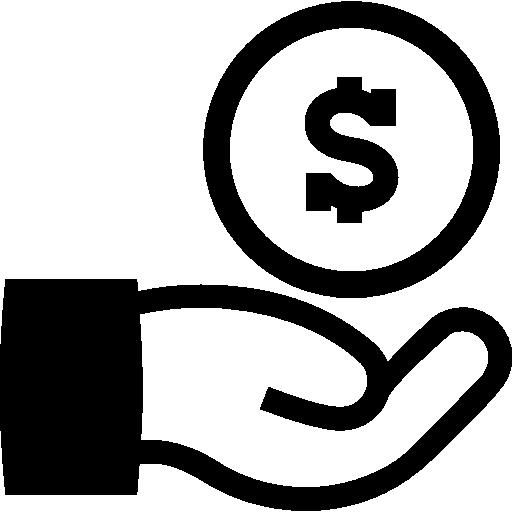 entrega dinero en mano